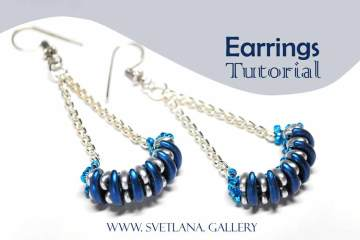 Earrings Tutorial. Crescent Beads. Modern Look.
