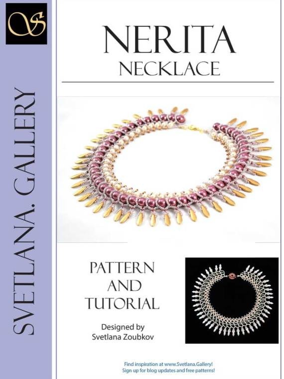 Nerita Necklace Beading Pattern Netting Stitch Tutorial - Cover
