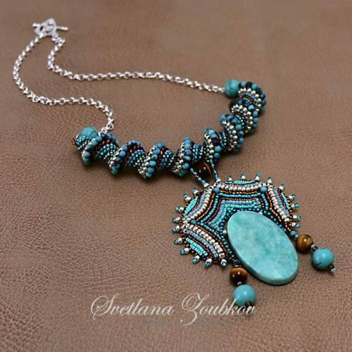 Tonga Queen Beaded Necklace by Svetlana Zoubkov