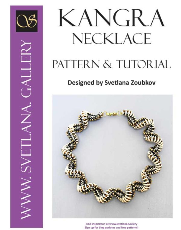 Kangra Crescent Spiral Necklace Pattern Tutorial - Cover