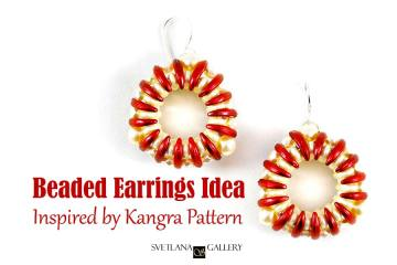 Beaded Earrings Idea Inspired by Kangra Pattern -Svetlana.Gallery