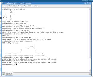 GNU/Linux Debian & Easter egg 1
