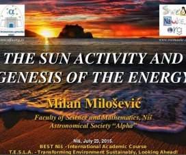 The Sun Activity and Genesis of the Energy 1