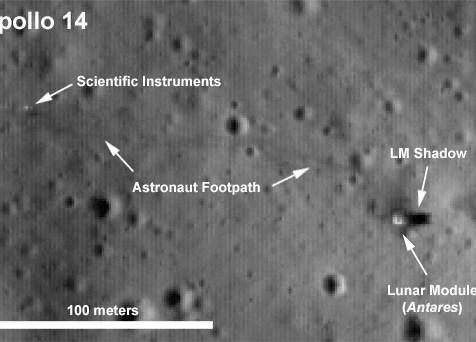 Lunarni modul Antares i tragovi aktivnosti