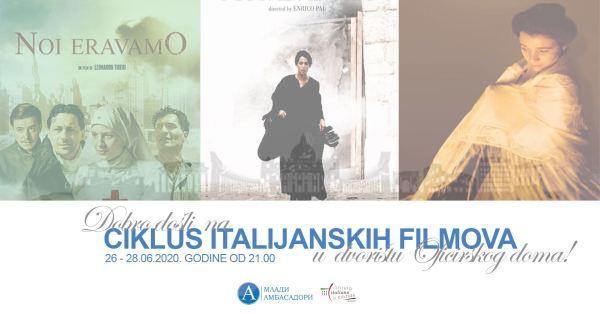 Italijanski filmovi pod zvezdama, 26 - 28. jun 1
