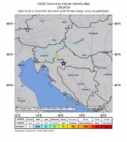 Zemljotres u Hrvatskoj 1