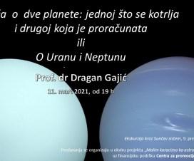 """Predavanje: """"Priča o dve planete – Uran i Neptun"""" 2"""