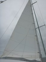 Double-reefed mainsail