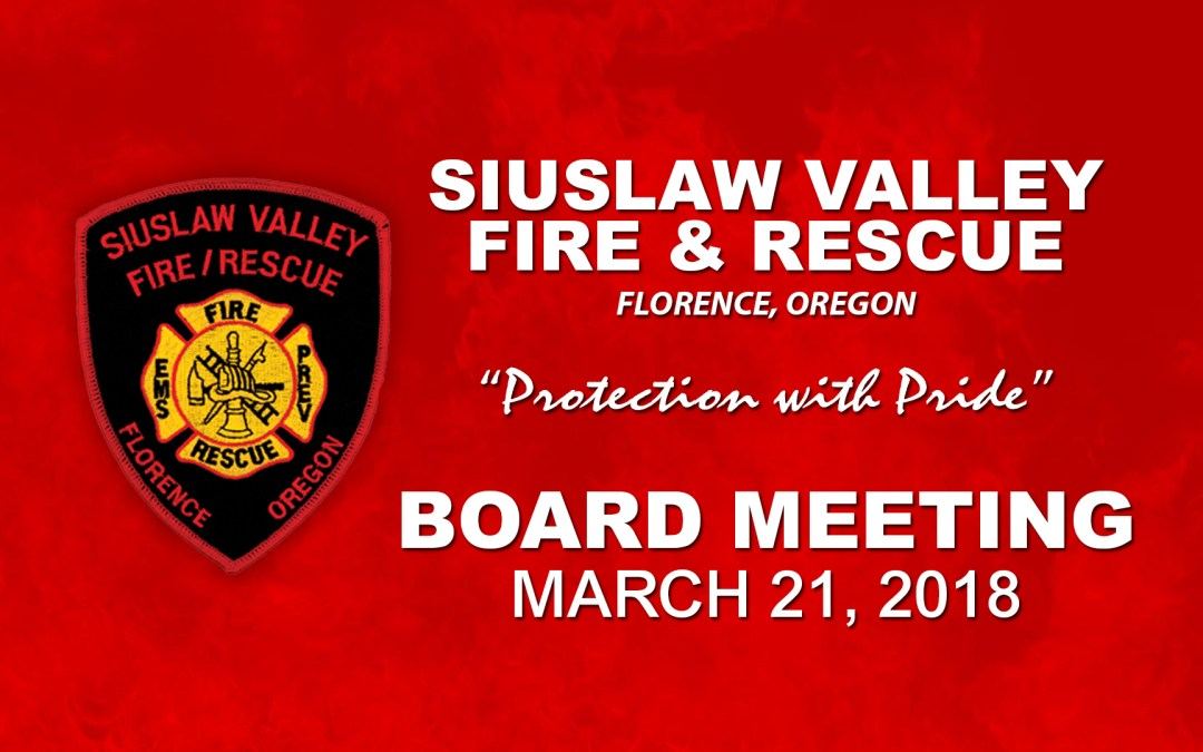 Board Meeting – March 21, 2018