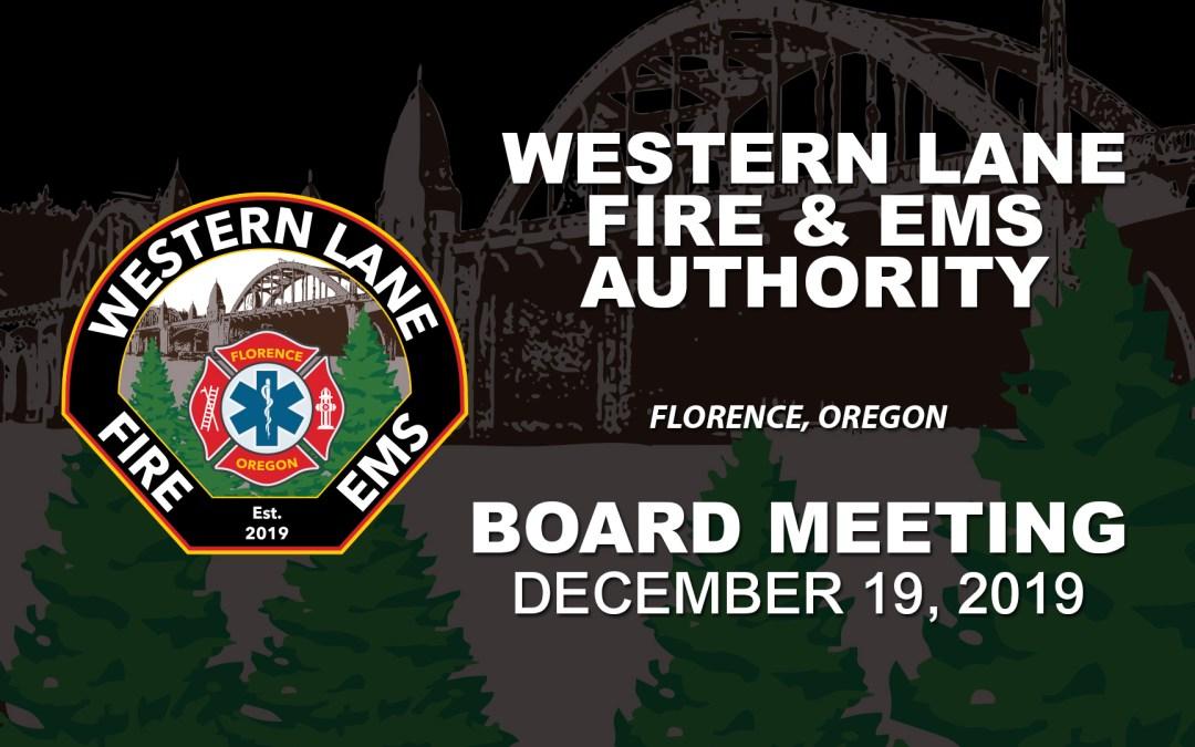 WLFEA Board Meeting – December 19, 2019