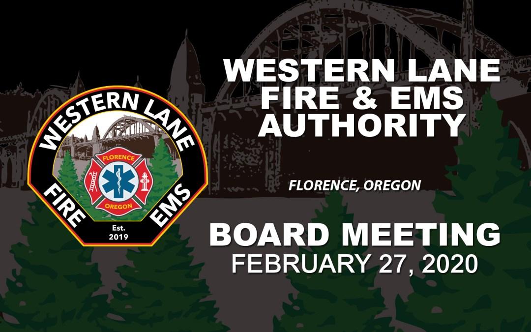 WLFEA Board Meeting – February 27, 2020