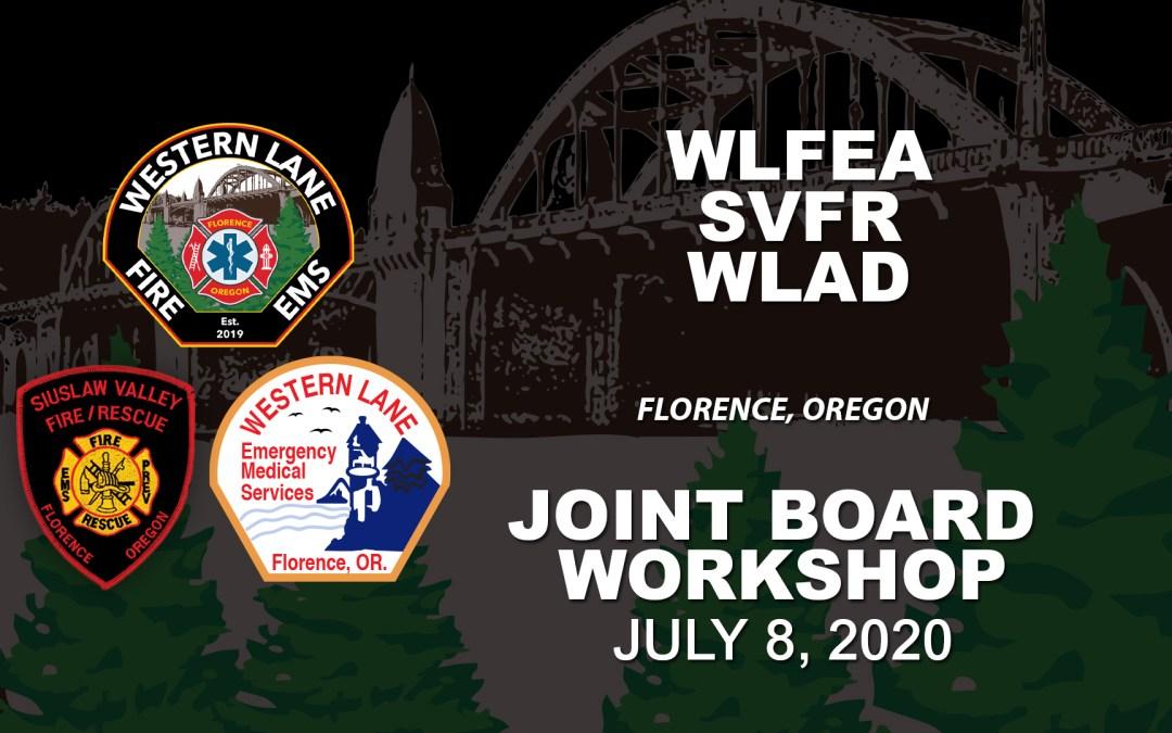 WLFEA/SVFR/WLAD Joint Board Workshop – July 8, 2020