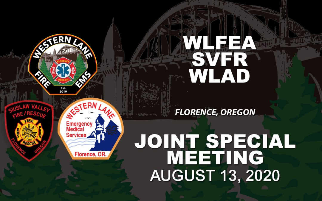 WLFEA/SVFR/WLAD Joint Special Meeting – August 13, 2020