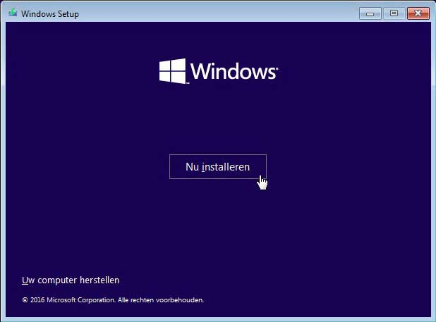 Herinstallatie Windows