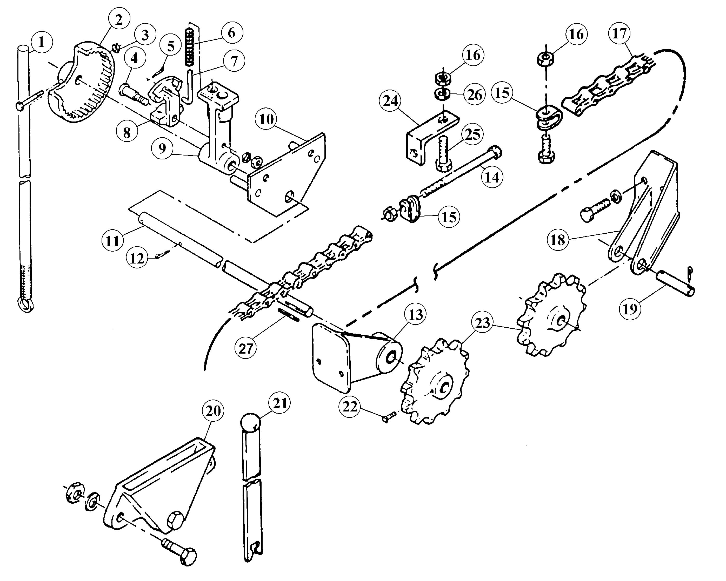 Parts for Weaver EC-108 Series Manual Ratchet Assembly