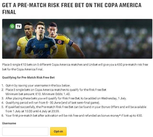 Copa America bonus