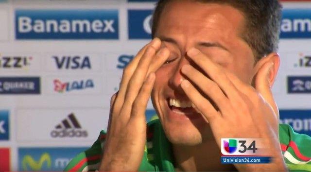 Chicarito zaplakao u emisiji