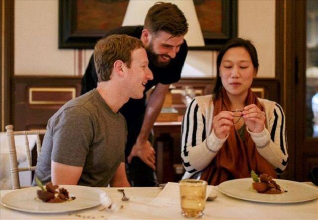 Pique večerao sa Mark Zuckerbergerom