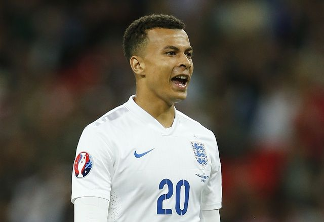 Football - England v Estonia - UEFA Euro 2016 Qualifying Group E - Wembley Stadium, London, England - 9/10/15 England's Dele Alli Action Images via Reuters / John Sibley Livepic EDITORIAL USE ONLY.
