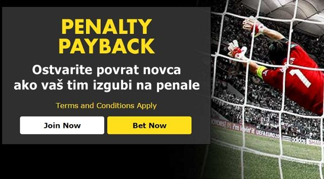 Bet365 Penalty Payback - Ostvarite povrat novca ako vaš tim na Euru izgubi na penale