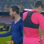 Elche's goalkeeper couldn't believe it when Lionel Messi asked him for his shirt in return | Footage