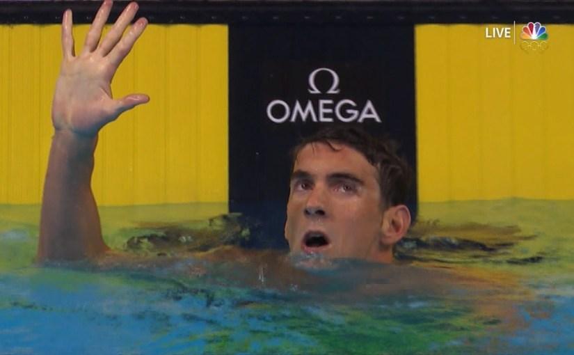 Michael Phelps svam seg í nátt til OL í Rio