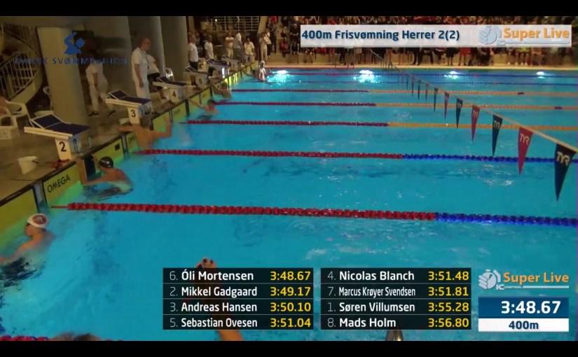 Óli 3:48.67 og danskur meistari í 400 frí