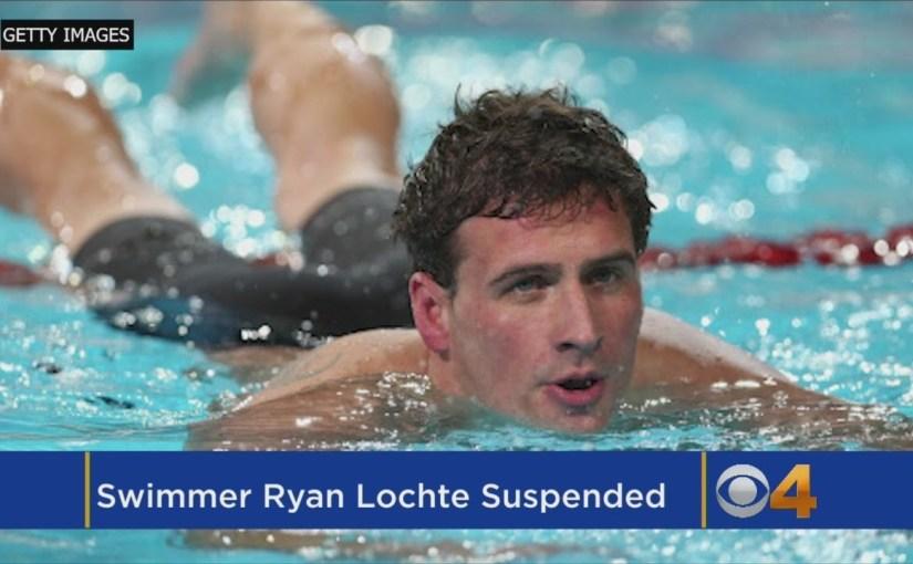 Ryan Lochte í dopingkarantenu inntil juli 2019