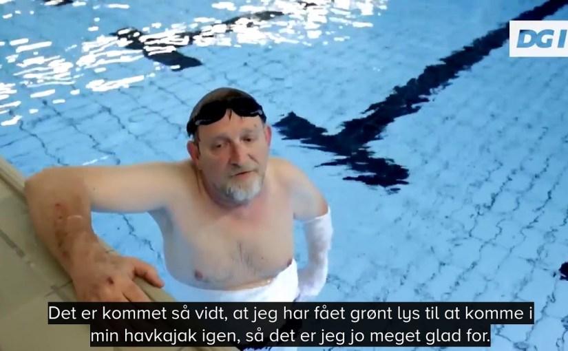 Jørgen vann á blóðtøppi við svimjing
