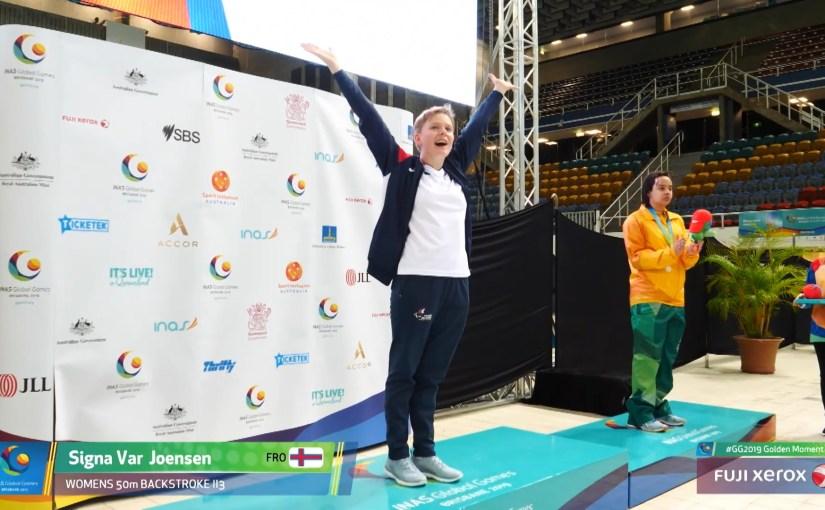 Signa Vár gull og silvur eisini 2. dag á INAS Global Games 2019
