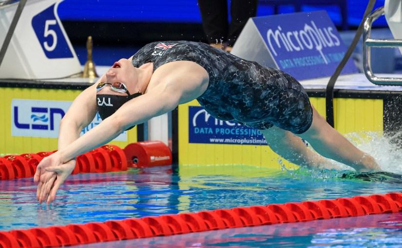 Kathleen Dawson vann (tíbetur) báðar EM-finalurnar í 100 rygg í kvøld