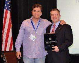 Mark Alexander, 2012 Trainer of the Year with SVNIC VP of Organizational Development, Bo Barron