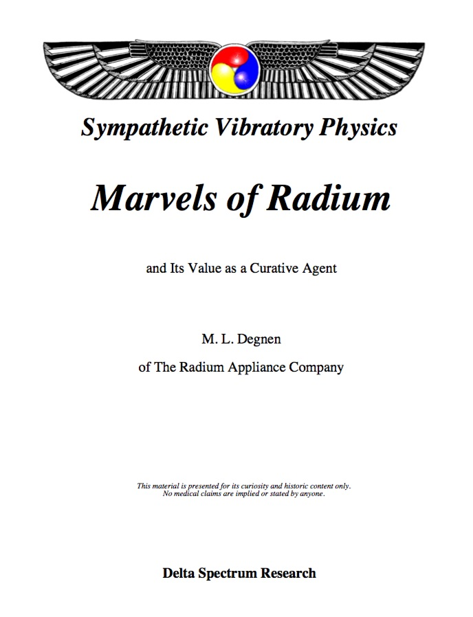 Marvels of Radium and Its Value as a Curative Agent (sold