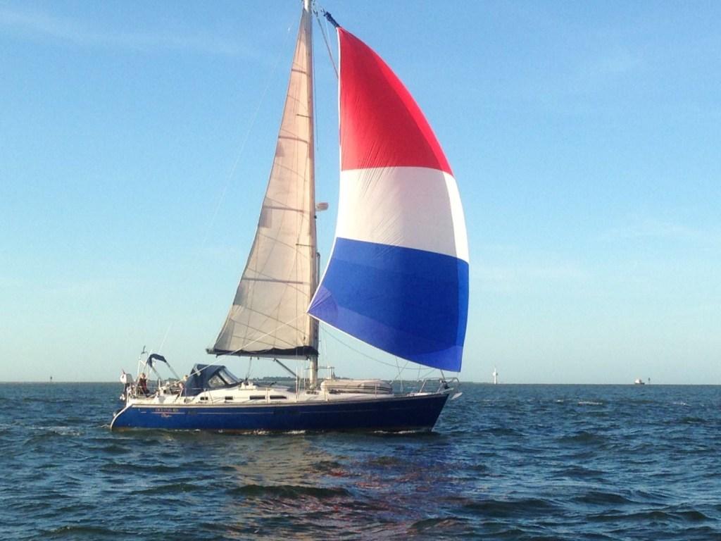 Phi onderweg vanuit Cuxhaven naar Vlieland in 2017