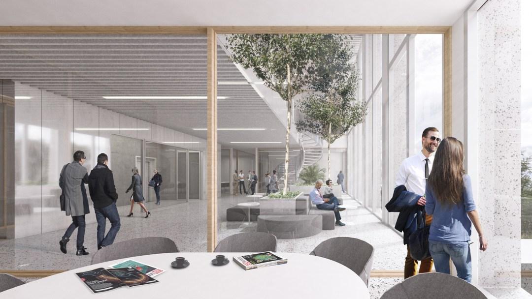 Interieur Wedstrijdontwerp VIB HQ en Bio-incubator