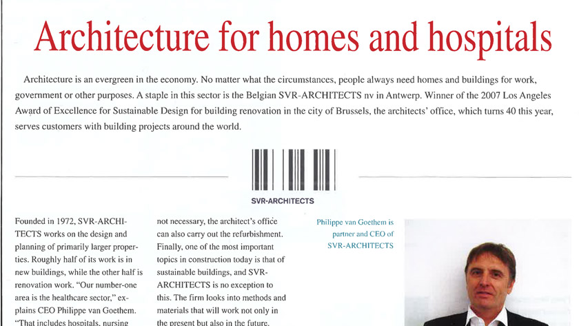 Architecture for homes and hospitals