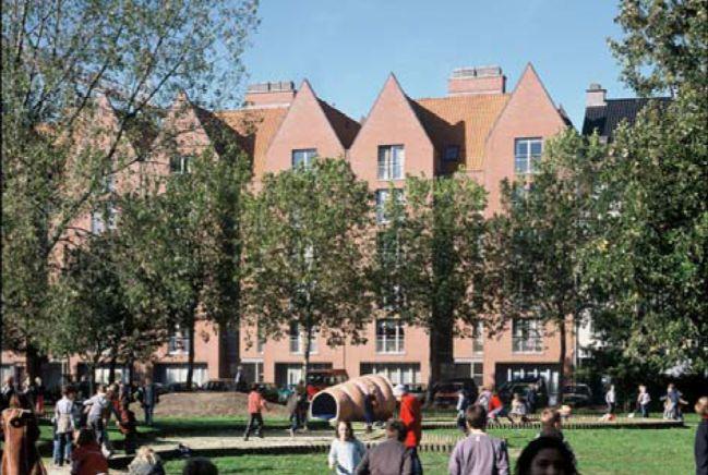 Appartementen sociale huisvesting Scheldestraat, Waalse Kaai, Timmerwerfstraat, Antwerpen