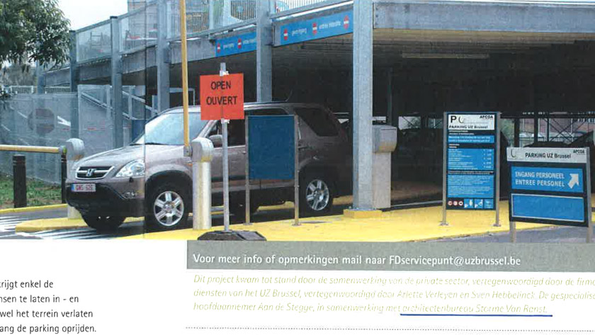New parking concept for UZ Brussels