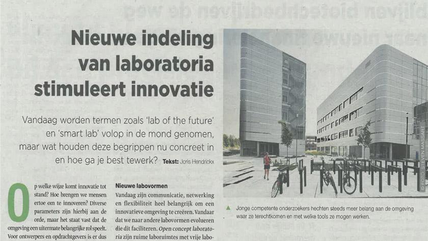 Nieuwe indeling van laboratoria stimuleert innovatie *