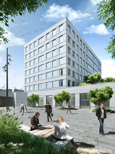 Kantoren, residentiële huisvesting, Retail en ondergrondse parkeergarage Kievit fase IIB, Antwerpen