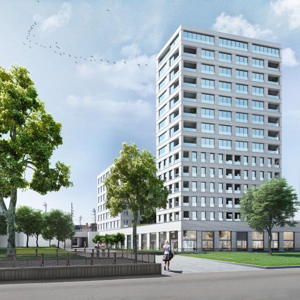 Nieuwbouw residentieel complex Kievit IIB, project huisvesting, Retail project SVR-ARCHITECTS