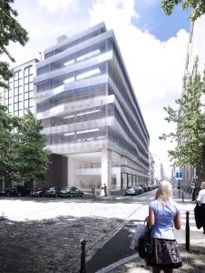 Rendering Kantoorgebouw Befimmo Guimard 9, Brussel