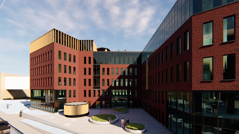 Laatste nieuwbouwprojecten ronden herbestemming Belgacomsite af