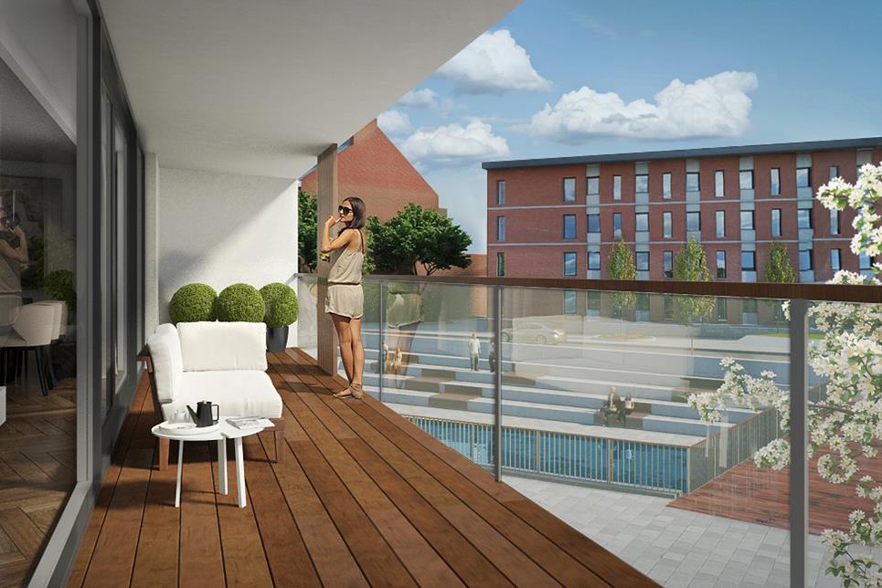 Residentiële appartementen Dijle-Delta Stadswijk Zuidpoort