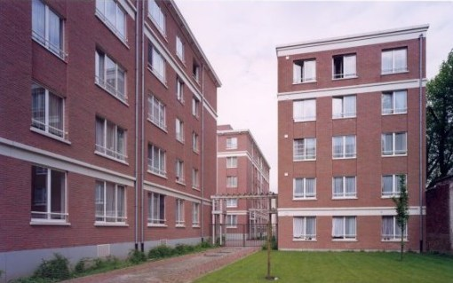 WOONHAVEN ANTWERPEN CVBA<br><span style='color:#31495a;font-size:12px;'>Social housing apartments Julius de Geyterstraat</span>