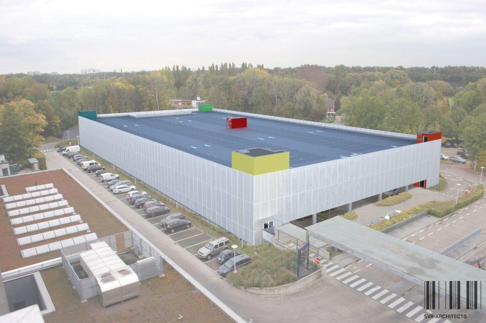 Rendering nieuw parkeergebouw 2- UZA