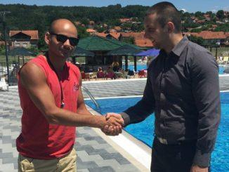 Miroslav Marković u poseti kupališnom kompleksu ''Bazeni Pastirište'', foto: Opština Svrljig