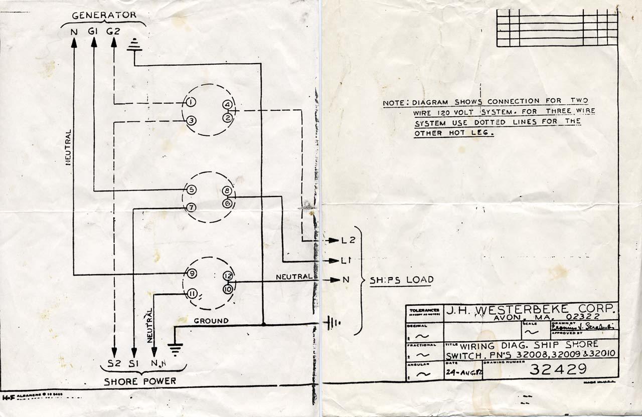 shore power wiring diagram for home lighting pearson 424 plans