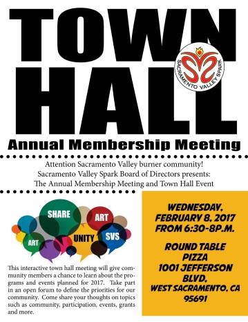 Annual Membership Meeting And Town Hall Event Sacramento Valley Spark