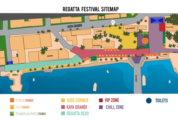 Event and Activity Map Bonaire Regatta